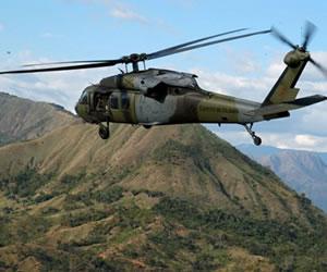 FARC se atribuyen secuestro de helicóptero en Cauca