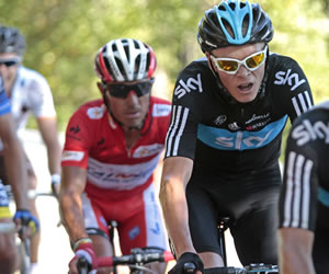 Urán gana dos posiciones en la Vuelta a España
