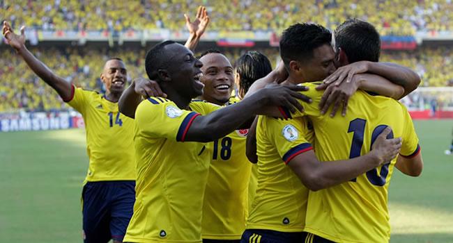 Goleada de Colombia sobre Uruguay