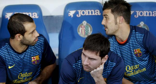 Leo Messi, suplente en Liga un año después