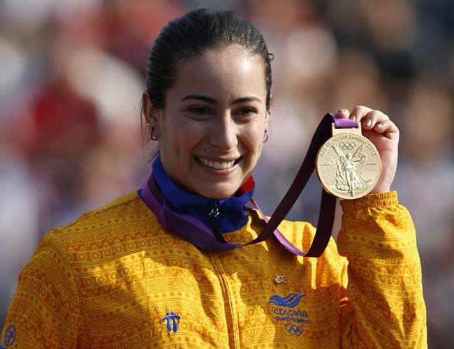 Mariana Pajón, ganadora de la medalla de oro en Londres 2012. Foto: EFE