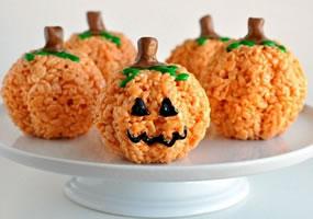 Calabazas de arroz inflado