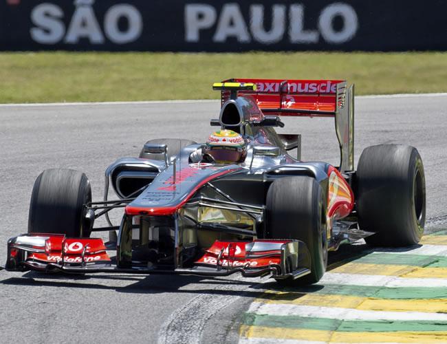 Hamilton fue el mejor y Vettel ensayó por delante de Alonso en Sao Paulo