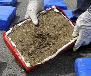 Policía militar halla 25 kilos de marihuana en avión del Ejército