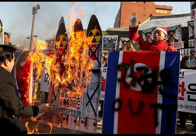Recuperan cohete norcoreano