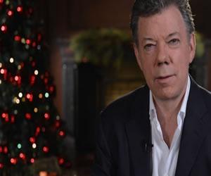 Santos desea paz a los colombianos en navidad