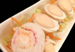 Rollitos de pollo rellenos de marisco