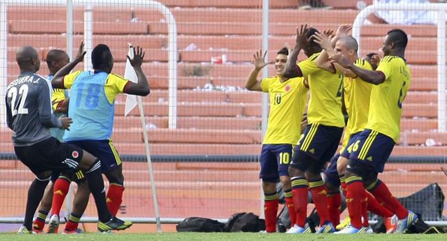 Celebración de la Selección Colombia Sub-20. Foto: EFE