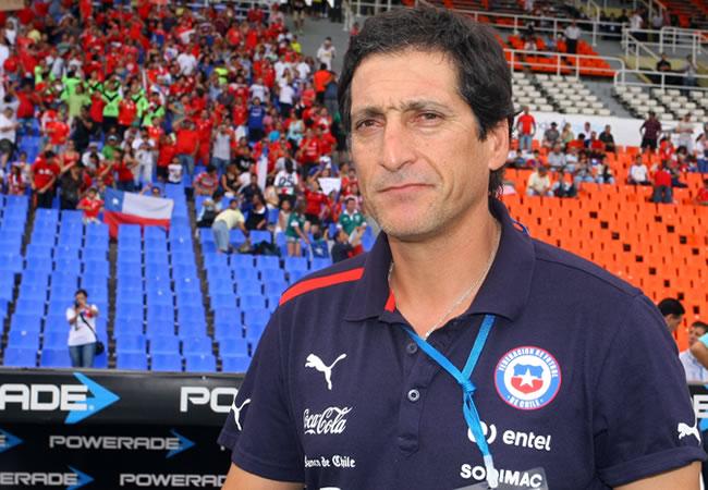 El técnico de la selección chilena Sub-20, Mario Salas. Foto: EFE