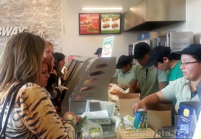 Subway llega a los 100 restaurantes en Colombia