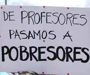 Profesores amenazan con irse a paro indefinido el 20 marzo