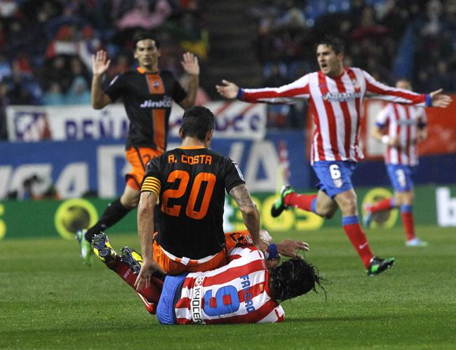 Empate en todo entre Atlético y Valencia