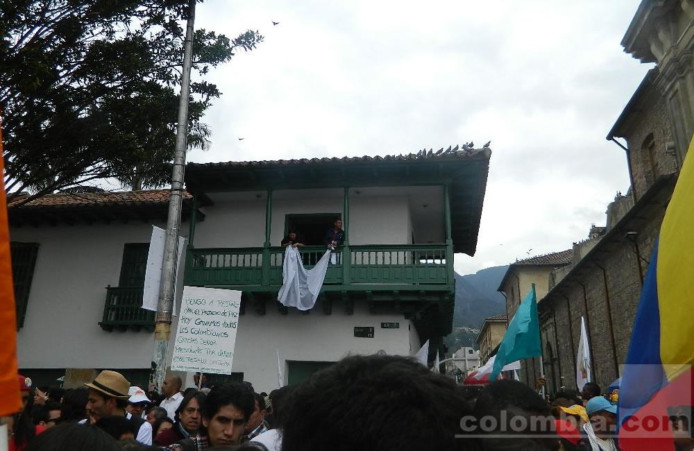 Colombia se moviliza por la paz. Foto: Interlatin