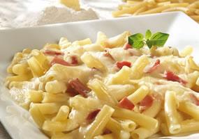 Pasta con Prosciutto y Parmesano