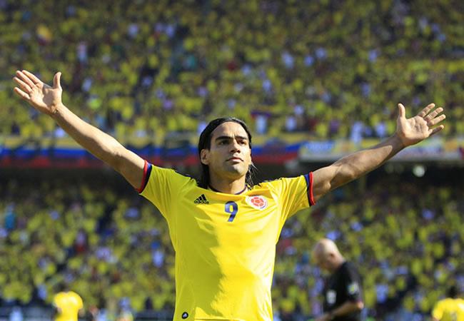 El goleador colombiano Falcao García. Foto: EFE