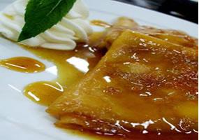 Creppes de mantequilla de naranja