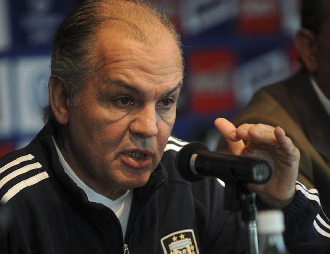 El seleccionador de Argentina, Alejandro Sabella. Foto: EFE