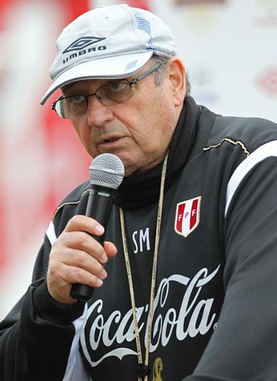 El seleccionador uruguayo de Perú, Sergio Markarián. Foto: EFE