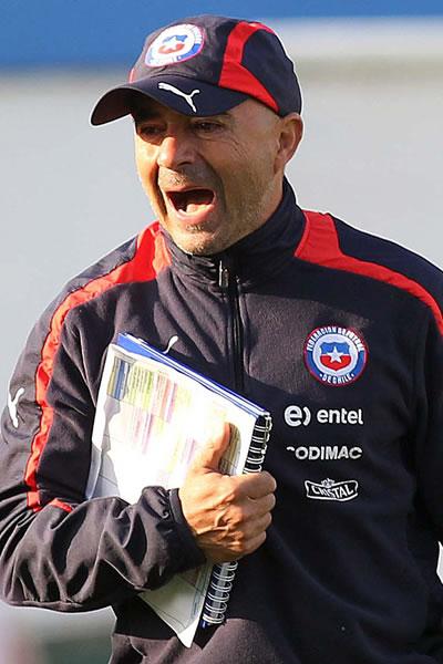 Jorge Sampaoli, DT argentino de la selección chilena. Foto: EFE