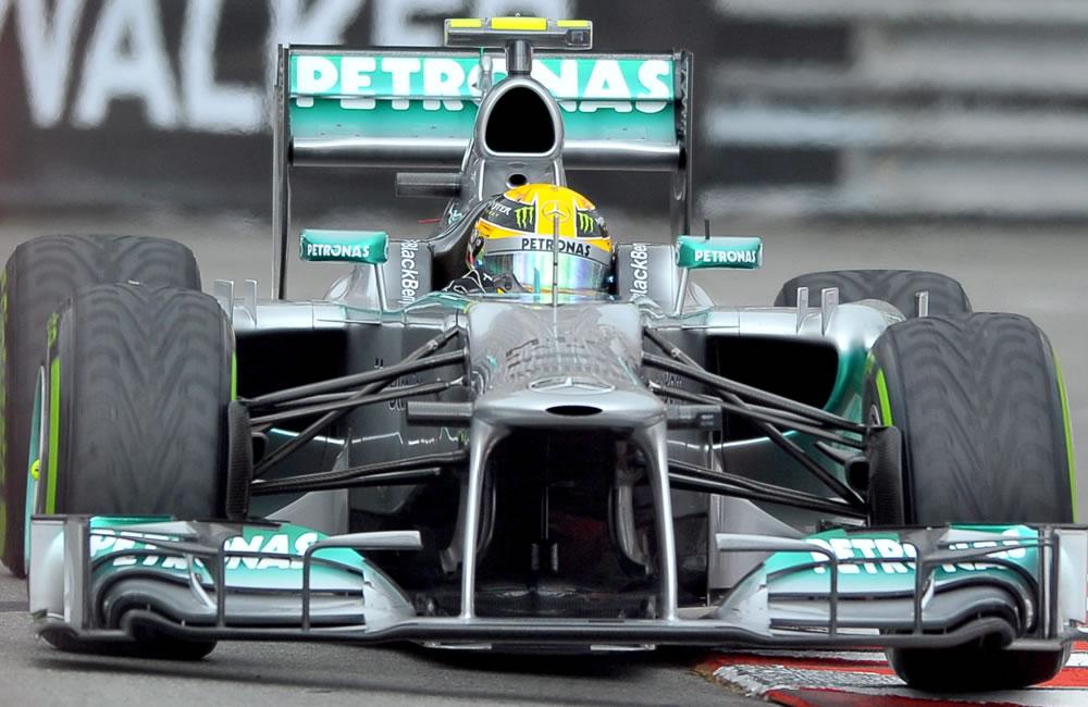 El piloto británico, Lewis Hamilton durante la clasificación del Gran Premio de Mónaco. Foto: EFE