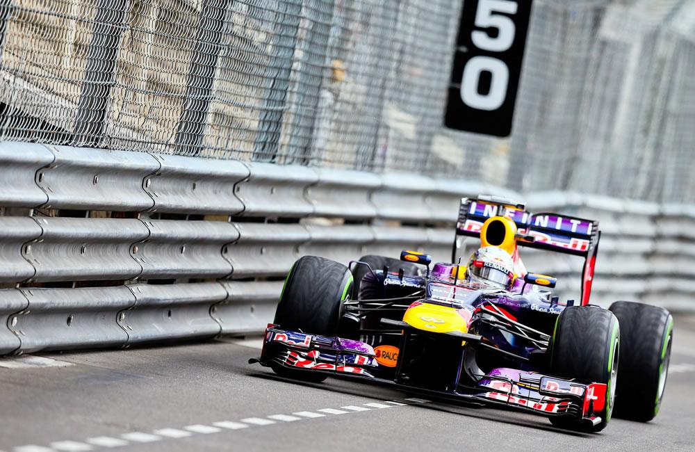 El piloto alemán Sebastián Vettel durante la clasificación del Gran Premio de Mónaco. Foto: EFE