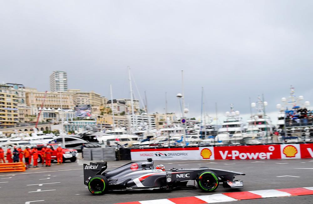 El piloto alemán Nico Hulkenberg durante la clasificación del Gran Premio de Mónaco. Foto: EFE