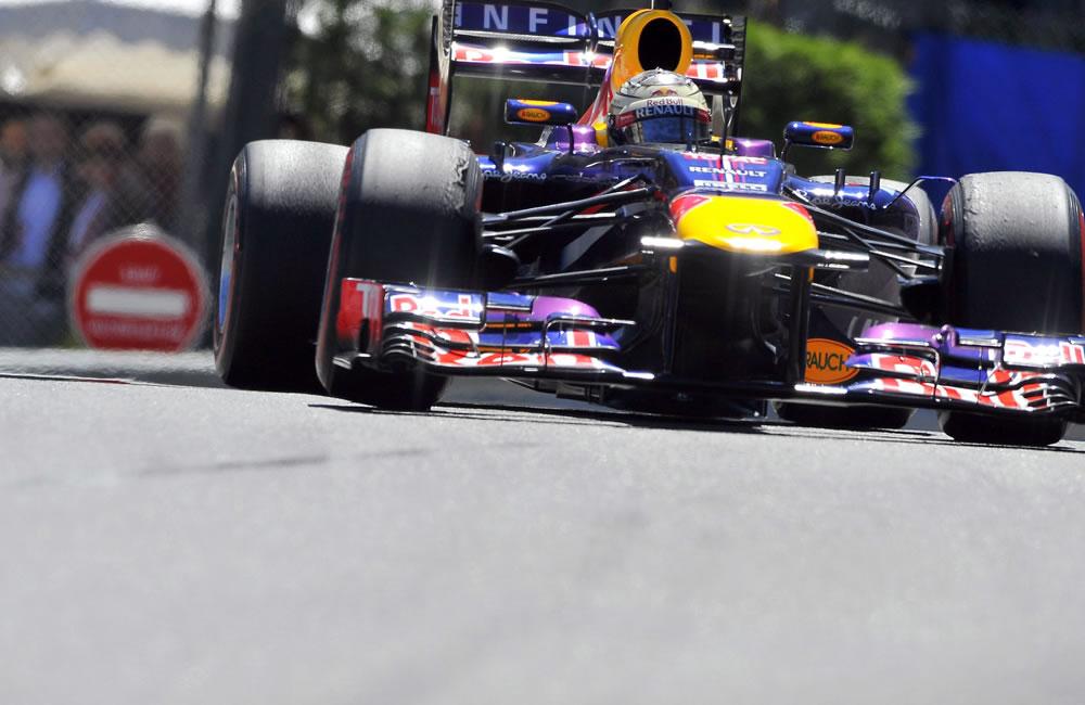 El piloto alemán Sebastián Vettel durante el Gran Premio de Mónaco. Foto: EFE