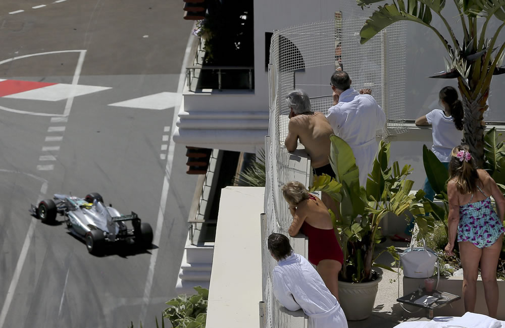 El piloto alemán Nico Rosberg durante el Gran Premio de Mónaco. Foto: EFE
