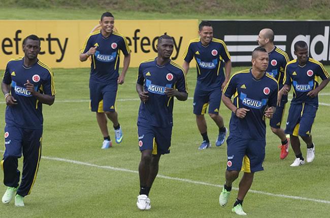 Entrenamiento de la Selección Colombia en Bogotá. Foto: EFE