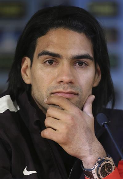 El delantero colombiano Radamel Falcao García. Foto: EFE