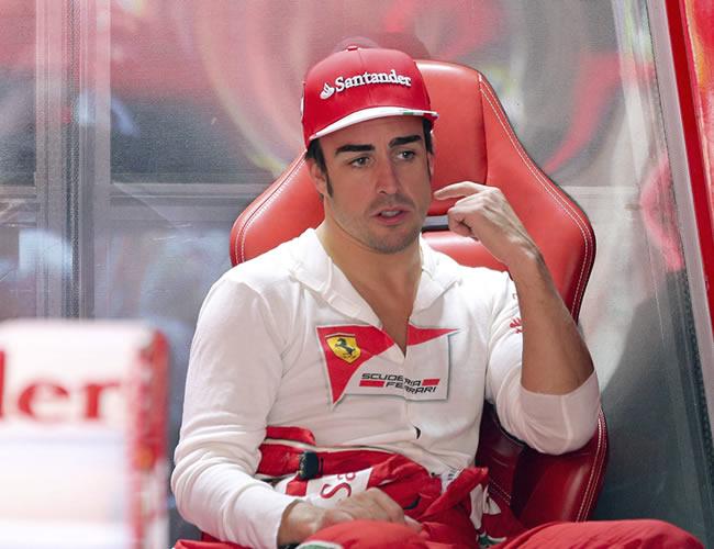 El piloto español de la escudería Ferrari, Fernando Alonso. Foto: EFE