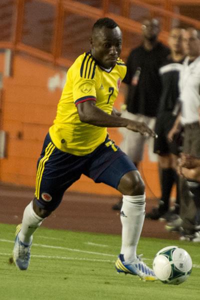 El lateral de la Selección Colombia, Pablo Armero. Foto: EFE