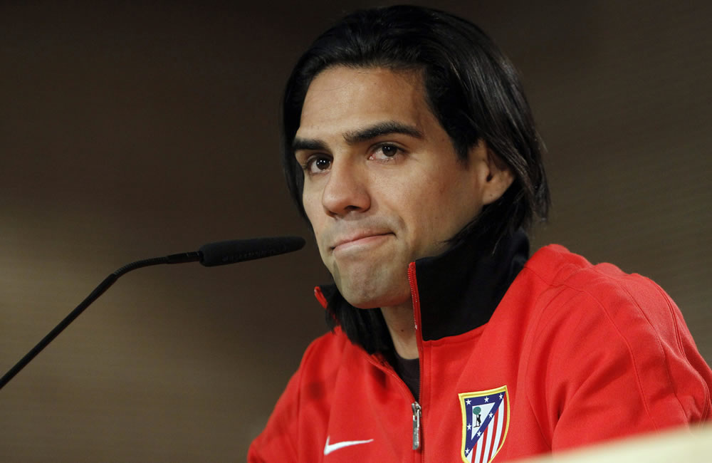Falcao García en la rueda de prensa previa a la final de la Copa del Rey 2013. Foto: EFE
