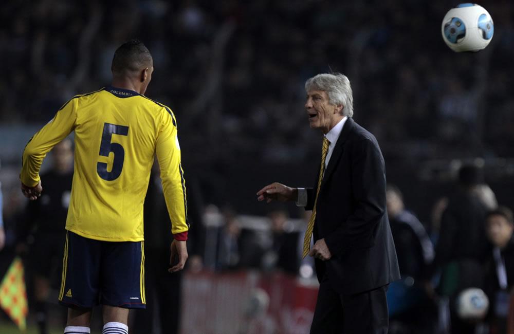 El entrenador de Colombia, José Pekerman (d). Foto: EFE