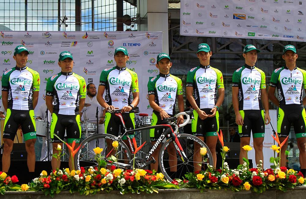 Integrantes del equipo Coltejer-Alcaldía de Manizales. Foto: EFE