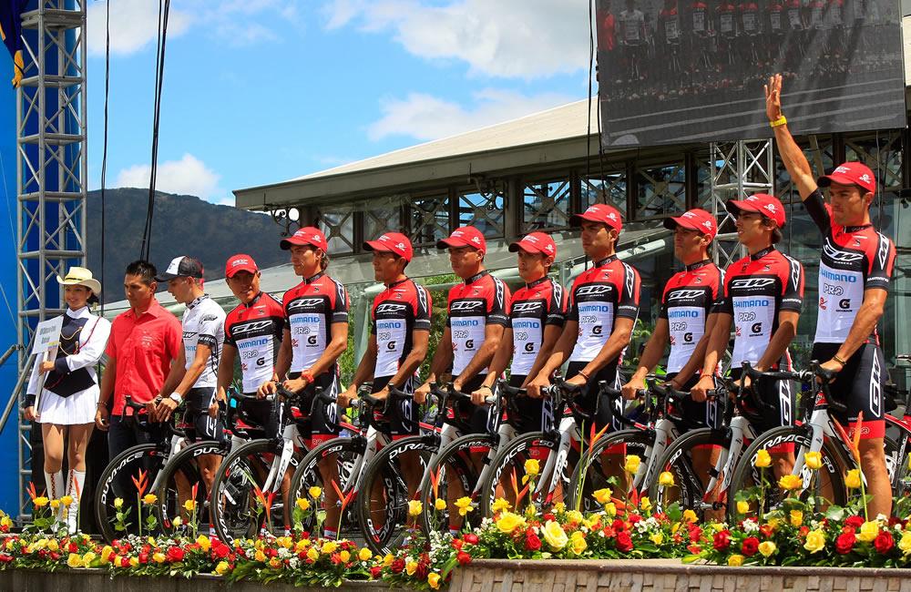 Integrantes del equipo GW Shimano-Envía-Gatorade. Foto: EFE