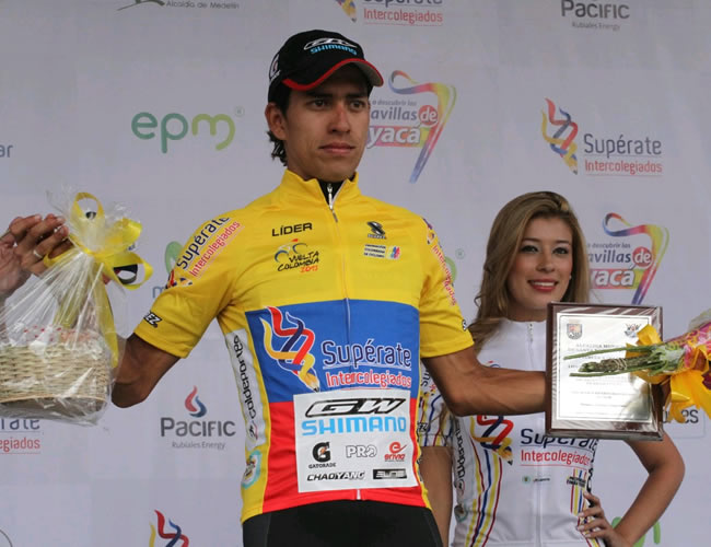 El líder de la Vuelta a Colombia, Jonathan Millán. Foto: EFE