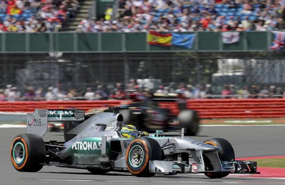 El piloto alemán Nico Rosberg durante el Gran Premio de Gran Bretaña. Foto: EFE