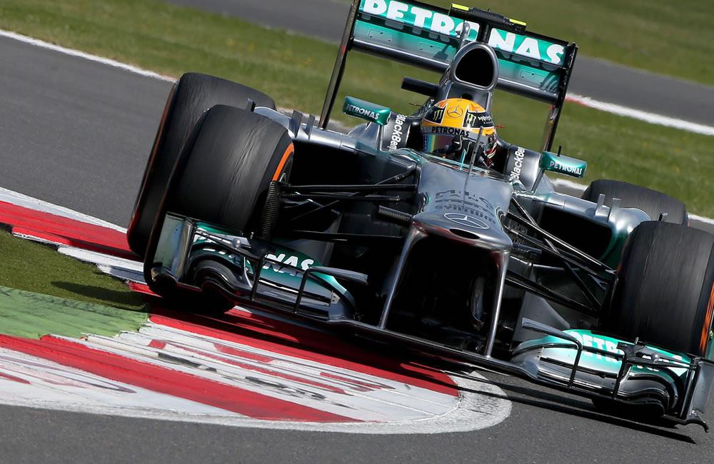El piloto británico Lewis Hamilton durante el Gran Premio de Gran Bretaña. Foto: EFE