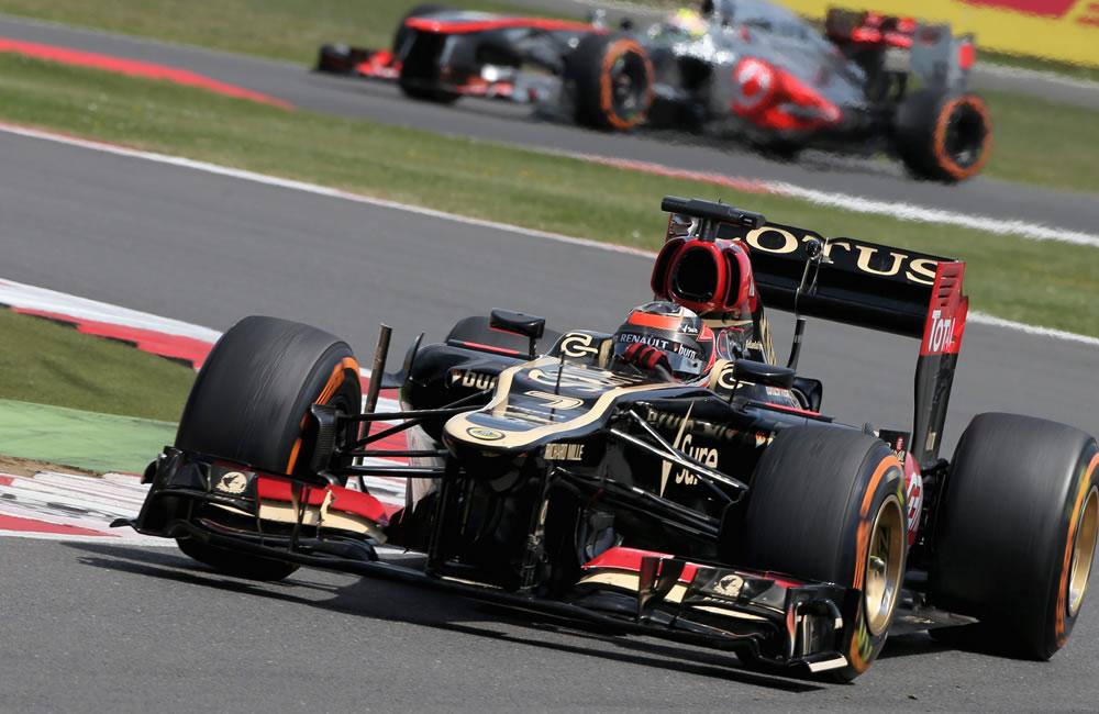 El piloto finlandés Kimi Raikkonen durante el Gran Premio de Gran Bretaña. Foto: EFE