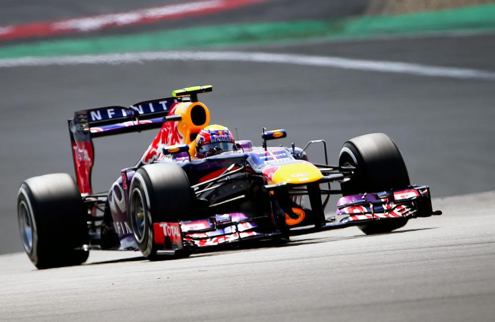 El piloto australiano Mark Webber durante la clasificación del Gran Premio de Alemania. Foto: EFE
