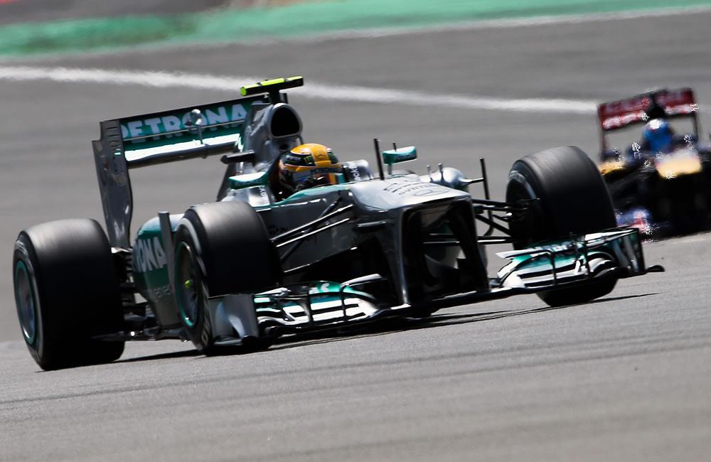 El piloto británico Lewis Hamilton durante la clasificación del Gran Premio de Alemania. Foto: EFE