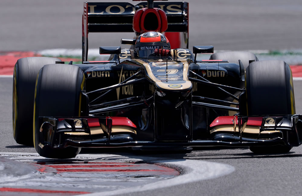 El piloto finlandés Kimi Raikkonen durante la clasificación del Gran Premio de Alemania. Foto: EFE