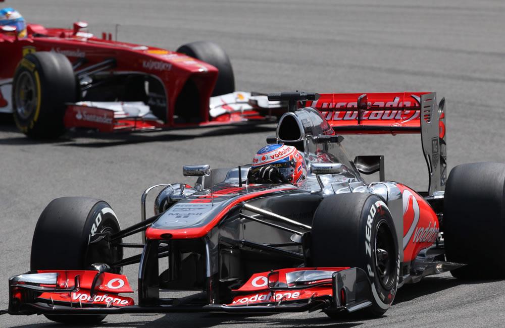 El piloto británico Jenson Button durante la clasificación del Gran Premio de Alemania. Foto: EFE