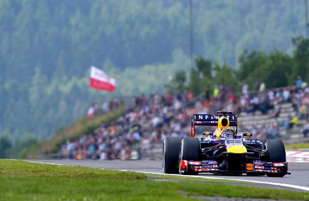 El piloto alemán Sebastián Vettel durante la clasificación del Gran Premio de Alemania. Foto: EFE