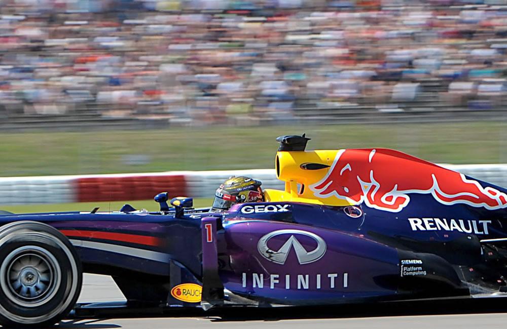 El piloto alemán Sebastián Vettel durante el Gran Premio de Alemania. Foto: EFE