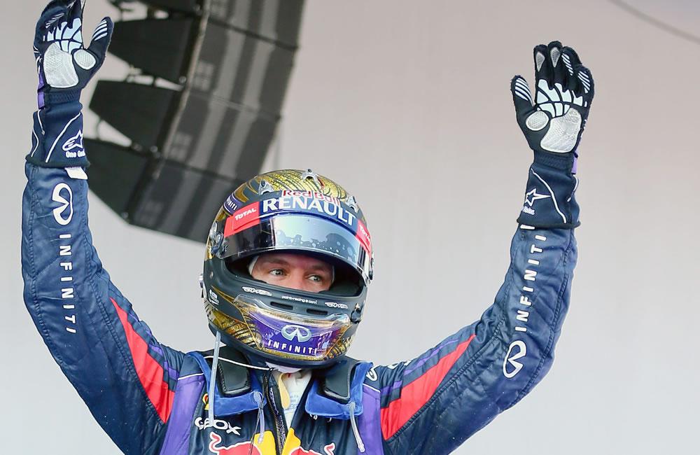 El piloto alemán Sebastián Vettel se coronó campeón del Gran Premio de Alemania. Foto: EFE