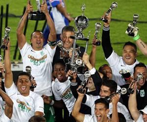 Celebración de Atlético Nacional. EFE