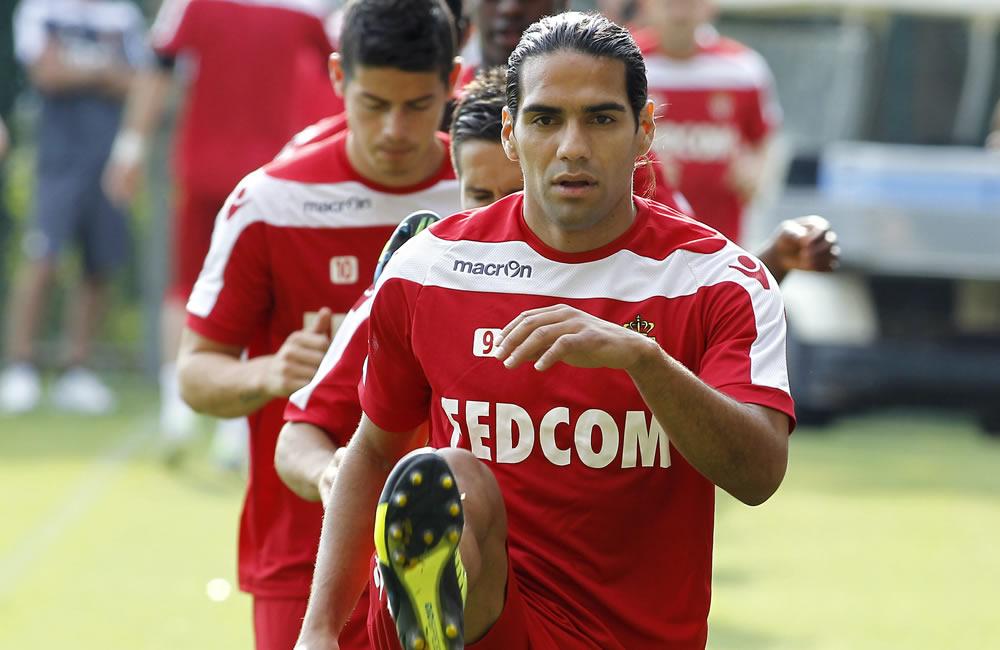 El delantero colombiano del Mónaco, Radamel Falcao García. Foto: EFE