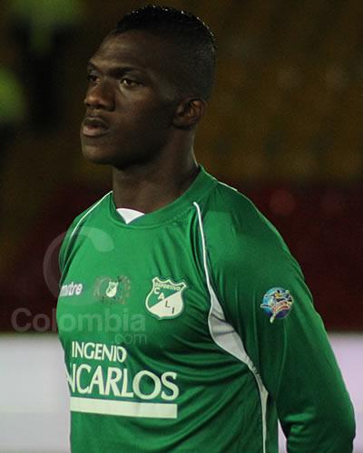 El delantero del Deportivo Cali, Miguel Murillo. Foto: Interlatin
